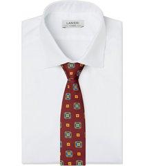 cravatta su misura, lanieri, contrasto rosso, quattro stagioni