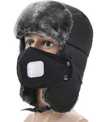 uomo donna inverno anziani spessi orecchio calda lei feng caps cappello da sci antivento da sci con valvola di respirazione