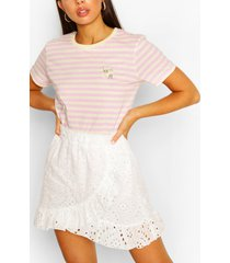 daisy stripe ringer t-shirt, lilac