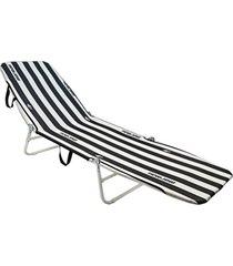 cadeira espreguiçadeira dobrável  mormaii branco/preto - tricae