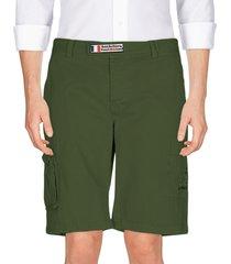 mc2 saint barth military green cargo shorts