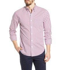 men's bonobos summer weight slim fit plaid button-down shirt