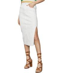 bcbgmaxazria stretch denim pencil skirt