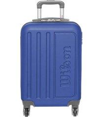 mala de viagem de bordo wilson em abs com rodas 360º graus - 65-w1709 - laranja azul