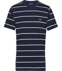 breton stripe ss t-shirt t-shirts short-sleeved blå gant
