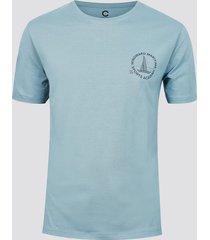 t-shirt i bomull med mönster - ljusblå