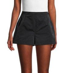 redvalentino women's solid a-line shorts - nero - size 40 (8)
