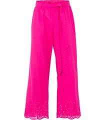 pantaloni culotte con ricamo traforato (fucsia) - bodyflirt