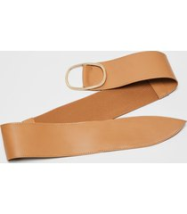 lane bryant women's wide stretch belt 26/28 palomino tan