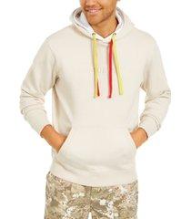 guess men's fleece double layer hoodie