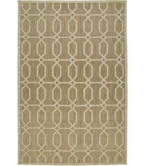 "kaleen a breath of fresh air fsr02-105 khaki 2'1"" x 4' area rug"