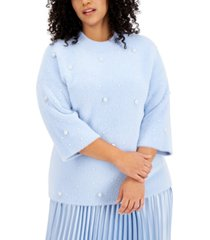 alfani plus size beaded sweater, created for macy's