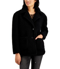 coffeeshop juniors' faux-fur teddy coat