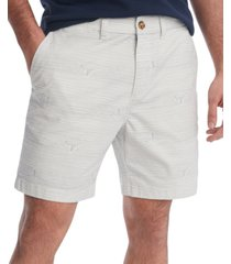 "tommy hilfiger men's boat stripe 9"" shorts"
