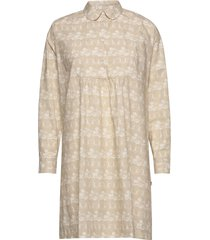 janica dress knälång klänning beige wood wood