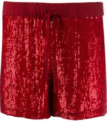 p.a.r.o.s.h. sequinned straight-leg shorts - red