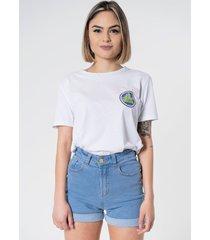 t-shirt aero jeans branca - branco - feminino - algodã£o - dafiti