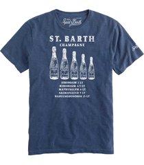 mans cotton t-shirt st barth champagne