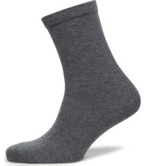 ankle cotton plain lingerie hosiery socks grå mp denmark
