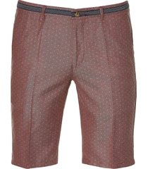 hensen short - slim fit - rood