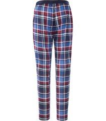 lange pyjamabroek ruitprint van jockey blauw