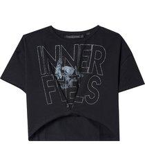 t shirt inner (preto, gg)