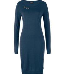 abito in maglia con bottoni (blu) - bpc bonprix collection