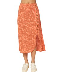 women's o'neill dolina dot button skirt
