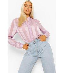 blouse met satijnen strip, lilac