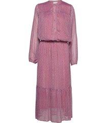 long dress w. elastic at waist - re maxiklänning festklänning röd coster copenhagen