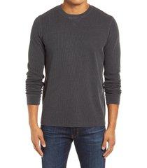 men's 1901 thermal crewneck sweatshirt, size xxx-large - black