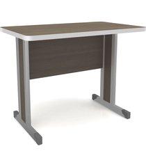 mesa secretaria c/ pã© metã¡lico teca itã¡lia mã³veis kappesberg marrom - marrom - dafiti