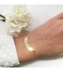 bransoletka złote skrzydła, wings bracelet