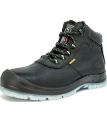 botin skechers hammer high black skechers work
