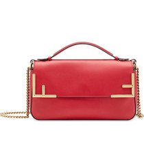 fendi ff double-sided shoulder bag - red
