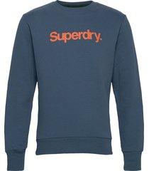 cl canvas crew sweat-shirt tröja blå superdry