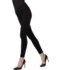 sueded houndstooth shaping women's leggings