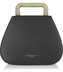 simon miller designer handbags, black blast bag