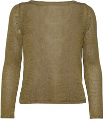 linen-blend boat-neck sweater gebreide trui groen banana republic