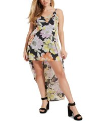 guess taryn skirt-back floral-print romper