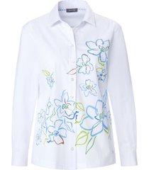 blouse 100% katoen lange mouwen van basler wit