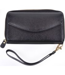 royce new york zippered wristlet wallet