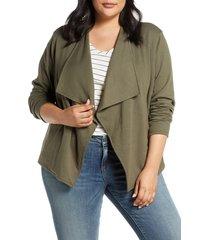 plus size women's caslon drape collar knit blazer