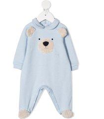 il gufo teddy cotton pajamas - blue
