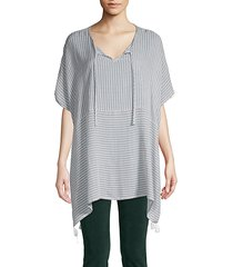 stripe tassel-trimmed tunic