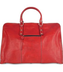 robe di firenze designer travel bags, red italian leather travel tote