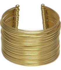 pulsera de mujer dorada bracciale medio liscio brass collection by vestopazzo
