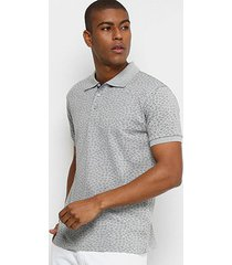 camisa polo broken rules piquet mini estampa floral masculina