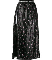 black floral shorts skirt