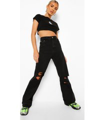 asymetrische jumpsuit met uitsnijding en volle mouwen, black